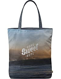 Dailyobjects Tote Bag Home Sweet Home Carry All Bag With Photo Quality Design, Made Of Polyester Canvas With Soft...