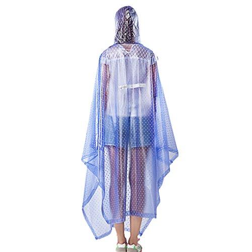 PonchodePluie Rain Poncho Raincoat Imperméable à l'eau Véhicules Electriques Moto Masse plus Epais Masque Individuel Raincoat pour les Voyages en Plein air Randonnée Pédestre Camping Pêche Bleu