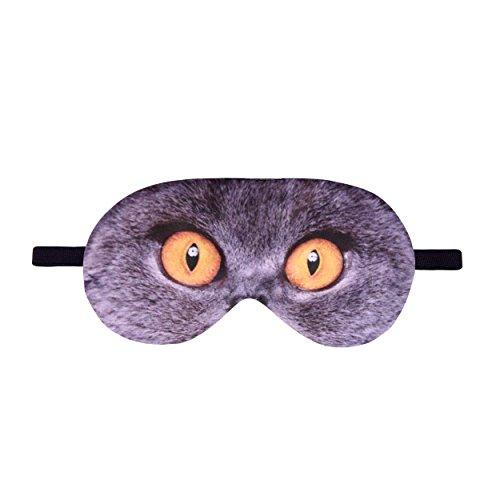 Fringoo Unisex-Schlafmaske mit lustigem Motiv, weich, Polyester, British Blue Cat, einheitsgröße