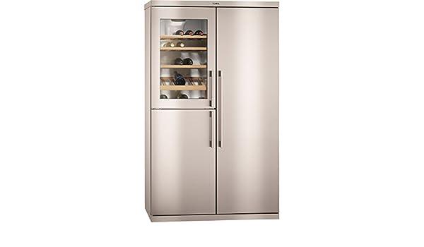 Side By Side Kühlschrank Mit Weinkühler : Aeg u side by side kühlschrank freistehend s xtm edelstahl