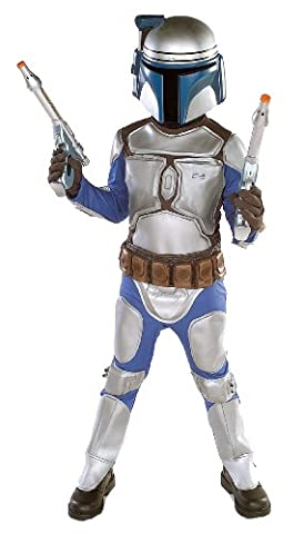 Star Wars Jango Fett Deluxe Kinderkostüm - Größe S - 112-122cm (Leia Organa Kostüm)