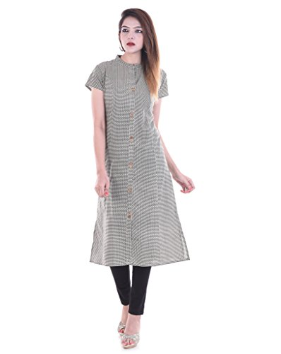 RAJMANDIRFABRICS Women's Cotton Printed Kurti (PK1015497_Grey_2XL)