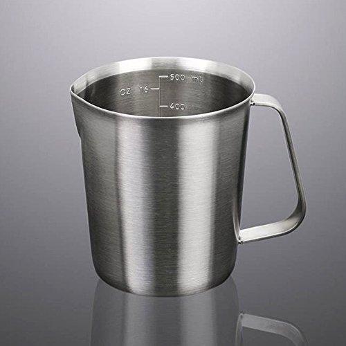 EgoEra® Rostfrei Edelstahl AufschäUmkännchen Milchschaumkännchen Milchkanne Milchkännchen Messbecher Für Espresso, Kaffee, Milch, 500ML thumbnail