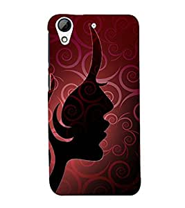 Graphic Girl 3D Hard Polycarbonate Designer Back Case Cover for HTC Desire 626 G::HTC Desire 626G Plus::HTC Desire 626G+