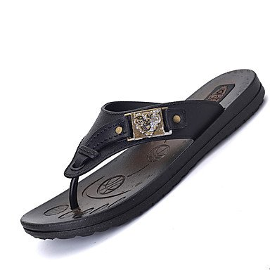 pantofole Infradito da uomo Pantofole & amp;Flip-flop Primavera Estate Autunno Inverno Comfort Leath sandali US8.5-9 / EU41 / UK7.5-8 / CN42