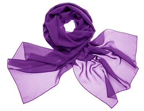 chal Stola für Abendkleider in Verschiedenen Farben Purple 180cmX72cm/ Small ()