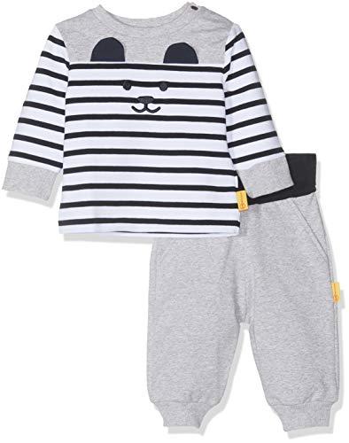Steiff Baby-Jungen Set Hose lang+Sweatshirt Bekleidungsset, Blau (Black Iris 3032), 74 Sweatshirt-hose