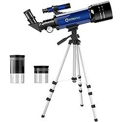 télescope pour Enfants débutants Astronomie Adultes Adolescent Portable 70mm Lunette astronomique pour Enfants Adolescents Jouets Cadeaux Jouet Enfants débutants Voyage Scope 70 60 50