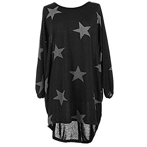 Womens Oversized Long Sleeve Pullover Blouse Loose T Shirt Tops Baggy Mini Dress