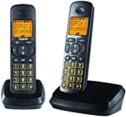 Gigaset A500 Duo (Pack of 2) Cordless Phone with 6 Hr Talk Time, 140 Hr Standby, 50M Indoor-300M Outdoor Range