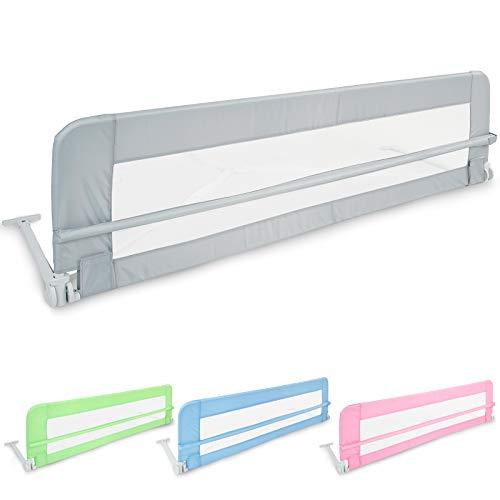 Klappbares Bettgitter (102/42cm - 150/42cm) | in Größen und Farbwahl | Bettschutzgitter, Kinderbettgitter, Babybettgitter Gitter, Rausfallschutz