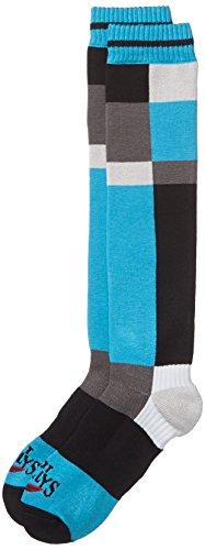 Hot Chillys Herren Wintersportsocken Static mittlere Länge, Blau/Schwarz/Weiß, M, 427699 (Chillys Hot Socken Winter)