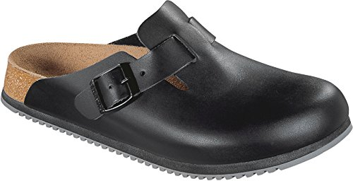 Birkenstock, Pantofole unisex adulto Nero (nero)