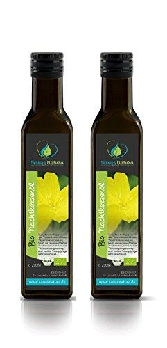 Sanus Natura Bio Nachtkerzenöl 500ml Glasflasche -