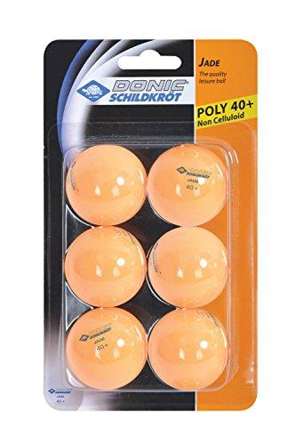 Donic-Schildkröt Tischtennisball Jade, Poly 40+ Qualität, 6 Stk. im Blister, orange, 618378