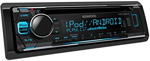 Kenwood KDC-300UV Autoradio USB/CD-Receiver mit iPod-Steuerung und variabler Tastenbeleuchtung - Radio Kabelbaum Kenwood