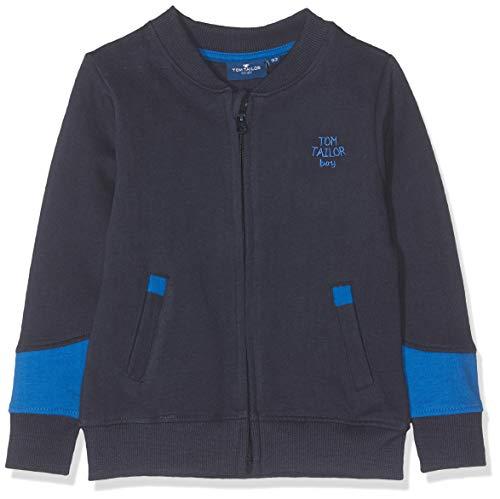 TOM TAILOR Kids Jungen Placed Print Sweatshirt, Blau (Navy Blazer 3105), Herstellergröße: 92 Knit Blazer-jacke