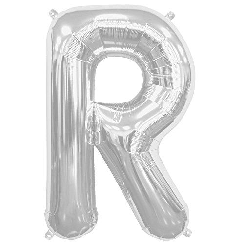 NorthStar Balloons-Ballon Aluminium Lettre R De 41Cm Non Gonflé De Couleur Argent