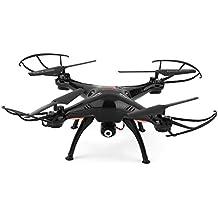 Syma X5SW 4CH 2.4G 6-Asse Giroscopio RC Wifi FPV Quadricottero Drone con Telecamera 0.3 MP, nero