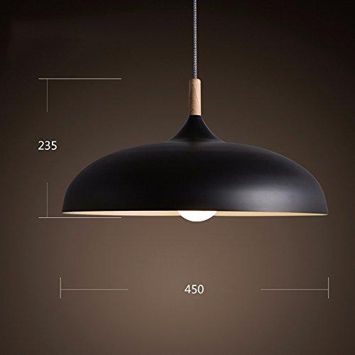LoveScc Ihre Startseite Restaurant Wohnzimmer Schlafzimmer Kronleuchter Kreativität Nordic Tischleuchte minimalistischen japanischen Aluminium Office Schwarz 450 * 235 Mm warmes Licht personalisieren