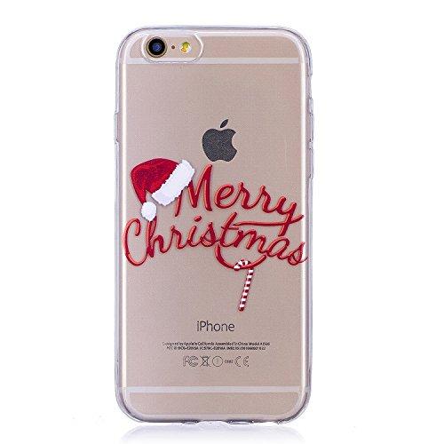 Coque iPhone 6S, iPhone 6 Case, Voguecase [Ultra Fin] [Anti Choc] Nouveau TPU Silicone Conçu pour Noël, Exact Fit / Léger / Souple Housse Etui Coque Pour Apple iPhone 6/6S 4.7 (Cadeau de Noël 01) + Gr Merry Christmas
