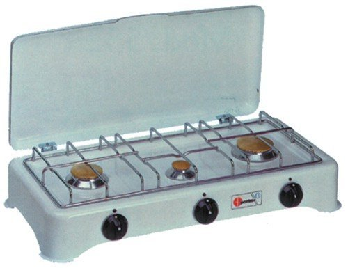 Fornello a gas con 3 fuochi in acciaio fornelli da - Fornelli da tavolo gas ...