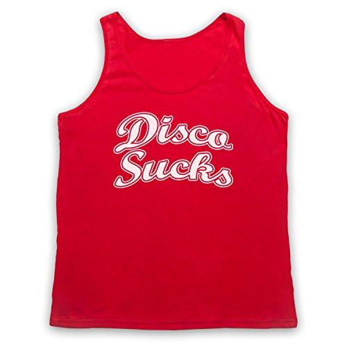 Disco Sucks Retro Tank-Top Weste Rot