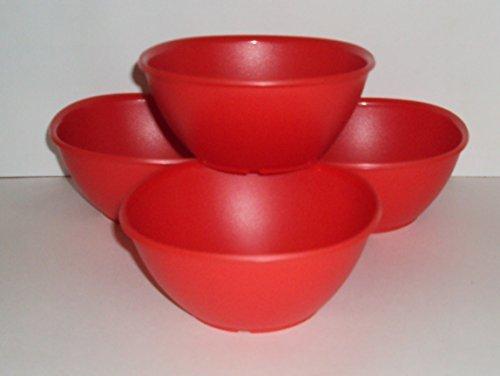 Tupperware Legacy Pinch Müslischalen Suppenteller 4er Set Chili Rot Pinch Bowl Set