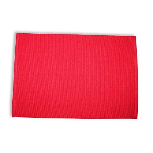 Unbekannt ROLLER 2er-Set Tischset - rot - Baumwolle - 33x48 cm