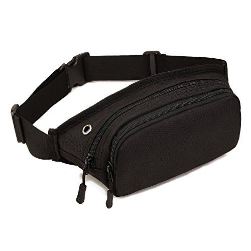 Imagen de huntvp  táctical bolso de cintura bolsa riñonera bandolera cinturón estilo militar bolso de múltiple función riñoneras para herramientas  ejércita bolso impermeable para correr, senderismo, ciclismo,camping, caza, etc, color negro