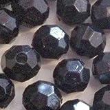 25g en acrylique à facettes Perles rondes–Noir–Kb0701/6mm
