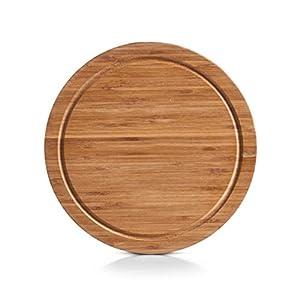 Zeller 25261 Vesperteller, Bamboo ø 25 x 1.5 cm
