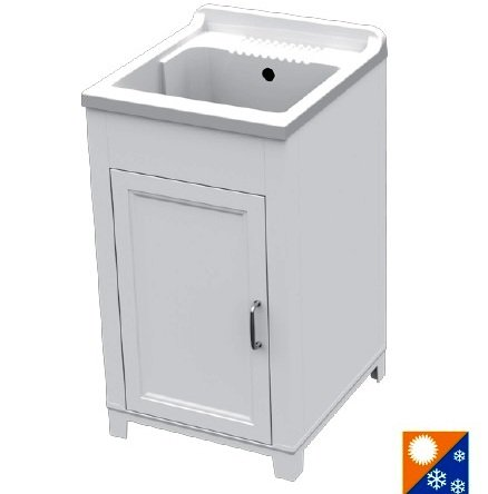 Mobile CM.45X50 Kit Lavatoio In Resina E Pvc, Bianco