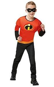 Rubies 641392One Disfraz oficial de Disney Incredibles, 2 niños, edad de la parte superior de los músculos 4 - 6 años, niños, talla única