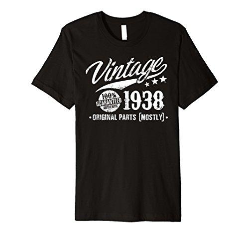 Vintage 80. Geburtstag Shirt 1938, 80Jahren Bday T-Shirt