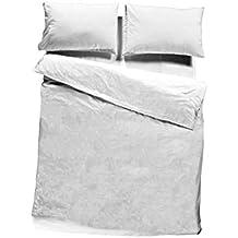 Pikolin Home Funda nórdica para todo tipo de nórdicos, 100% algodón, 240 x 260 cm, cama 150/160, color blanco