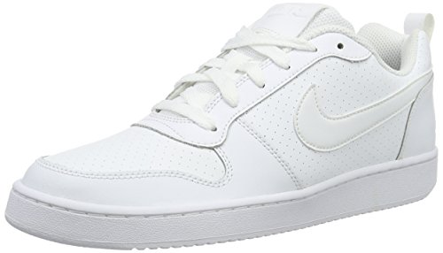 Nike Court Borough Low, Chaussures de Sport-Basketball Homme Blanc