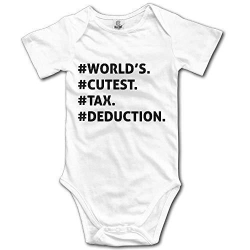 8cceadaceaf56 Nigmfgvnr World'S Cutest Tax Deduction Newborn Baby Boys Girls Lightweight  Short-Sleeve Bodysuit Romper Outfits
