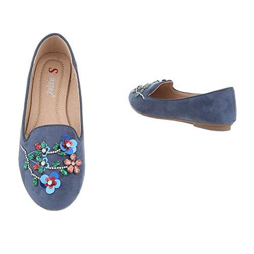 Ital-Design, Ballerine donna Blau LT70