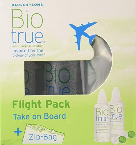 Bausch & Lomb Biotrue Kontaktlinsen-Pflegemittel, Flight Pack (2 x 60 ml)