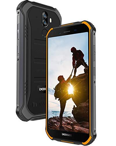 doogee s40 lite rugged smartphone in offerta, android 9.0 cellulari offerte ip68 antiurto impermeabile, 4650 mah, 5,5 pollici gorilla glass 4, 2 gb+16 gb dual sim 3g, 8mp+5mp fotocamera, arancia