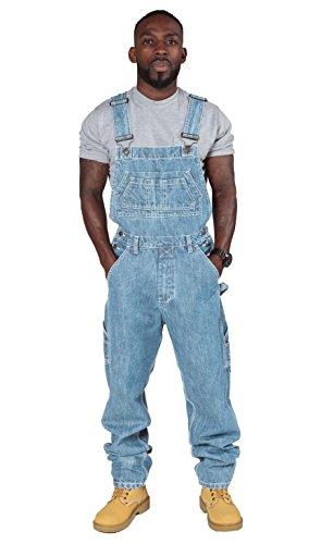 USKEES BASIC Herren Latzhose - Hellblau billige Latzhosen - Jeanslatzhose MENSBASICPALE-44-XXXXL (30 Minute Halloween Kostüme)