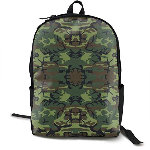 Grüne, braune und Schwarze militärische Tarnung Rucksäcke für Frauen Männer, Computer Laptop Rucksack, Casual Book Bag (Ebags Laptop Rucksäcke)