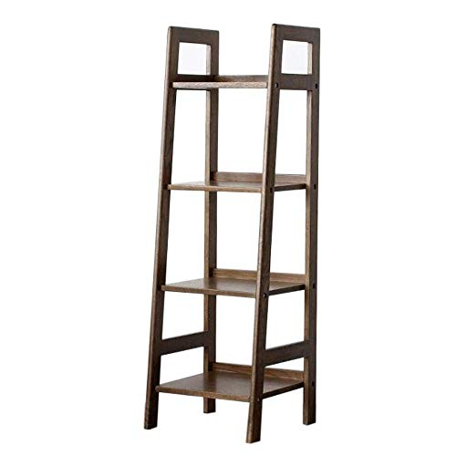 AFDK Regale Modern Ladder Bookcase Bücherregal Vintage Storage Ladder Leaning Ladder Shelf Display Regale Eiche , Wohnzimmer, Schlafzimmer,Nussbaum,16,92 * 16,33 * 53,54 Zoll -