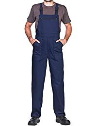 Pantalones con peto de trabajo para hombre, Made in EU, Mono de trabajo,