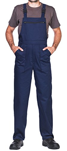 Bib and Brace Dungaree, mens, Prowear, Overalls Workwear(3XL, Navy)