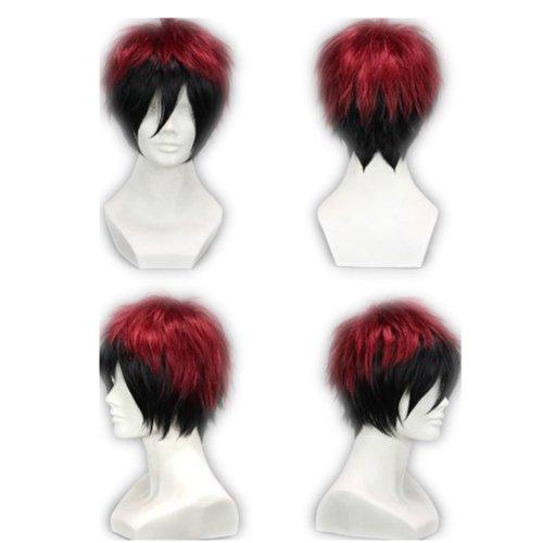 COSPLAZA Cosplay Wig Kostueme Peruecke Kuroko no Basuke Kagami Taiga kurz Schwarz and Rot Haare