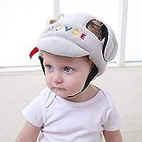 Funnyrunstore Baby Anti-Fall Head Protection Cap Bebé niño pequeño Sombrero anticolisión Sombrero Resistente a roturas Casco de Seguridad para niños Casco Gris Colorido