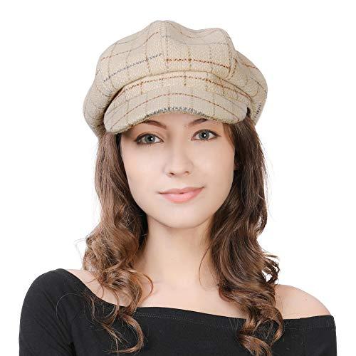 FancetHat FancetHat Damen Wollmischung Ballonmütze Wintermütze Kappe 55-58cm Beige