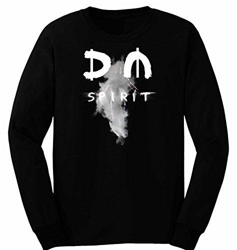 Herren T-Shirt Depeche Mode Spirit Langarm S-2XL Schwarz